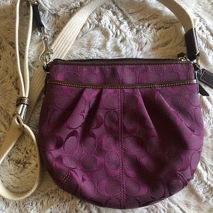 Coach Purple Purse Crossbody Bag